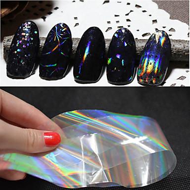 6 pcs Nail Foil Striping Tape Vattenöverföringsklistermärke nagel konst manikyr Pedikyr Abstrakt / Mode Dagligen / pvc / Foliebandspapp