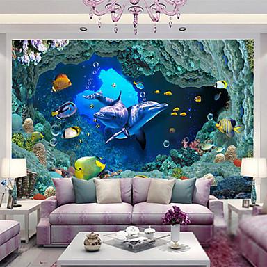 preiswerte Wandgemälde-Tierfell-Druck 3D Haus Dekoration Moderne Wandverkleidung, Nicht-gewebtes Papier Stoff Klebstoff erforderlich Wandgemälde,