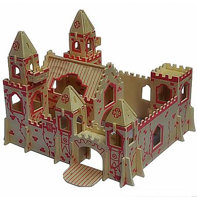 voordelige 3D-puzzels-3D-puzzels Houten puzzels Houten modellen Kasteel Hout Jongens Meisjes Speeltjes Geschenk