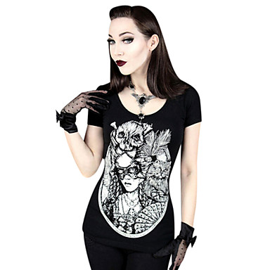 14b0deeef205 Μπλούζα Πουκάμισο Κλασσική Παραδοσιακή Lolita Cosplay Φορέματα Λολίτα Μαύρο  Στάμπα Φανέλα Για Γυναικεία Λύκρα 4881875 2019 –  20.39