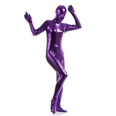 Zentai Dräkter Skinande Zentai Dräkter Ninja Spandex Cosplay-kostymer Herr Dam Purpur Enfärgad Jul Halloween / Hög Elasisitet
