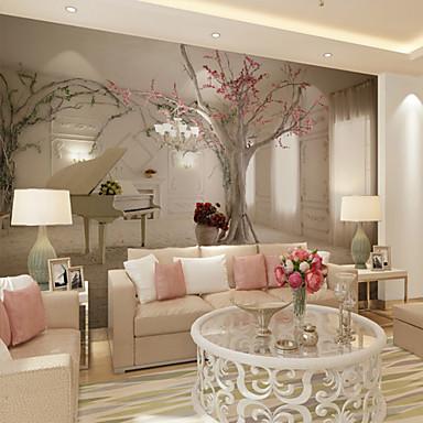 preiswerte Wandgemälde-Bemalt Haus Dekoration Zeitgenössisch Wandverkleidung, Vinyl Stoff Klebstoff erforderlich Wandgemälde, Zimmerwandbespannung
