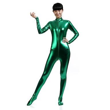 Zentai Dräkter Kattdräkt Huddräkt Ninja Vuxna Spandex Cosplay-kostymer Kön Herr Dam Grön Enfärgad Jul Halloween / Hög Elasisitet
