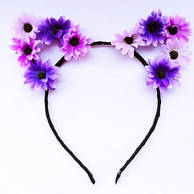 levne Dámské šperky-Dámské Květinový Květiny Vintage Látka Slitina Čelenky Fascinators Šperky - čelenky Svatební Párty