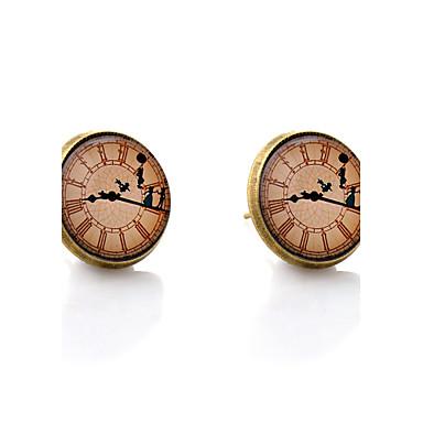 levne Dámské šperky-Dámské Peckové náušnice minimalistický styl Náušnice Šperky Bronzová Pro Svatební Párty Denní Ležérní