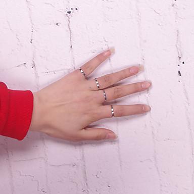 levne Dámské šperky-Band Ring Stříbrná Slitina Circle Shape dámy Evropský minimalistický styl Denní Ležérní Šperky Nastavitelný