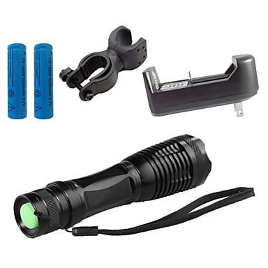 ZK10 LED-Ficklampor Taktisk Vattentät 1100 lm LED LED 1 utsläpps 5 Belysning läge med batteri och laddare Taktisk Vattentät Zoombar Uppladdningsbar Justerbar fokus Stöttålig Camping / Vandring