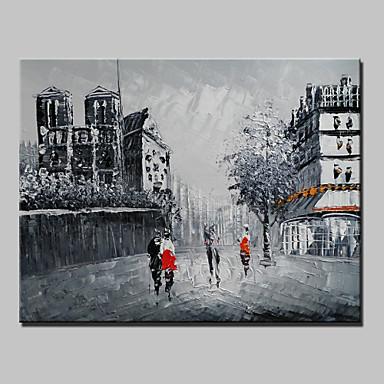 povoljno Ulja na platnu-Hang oslikana uljanim bojama Ručno oslikana - Pejzaž Moderna Uključi Unutarnji okvir / Prošireni platno