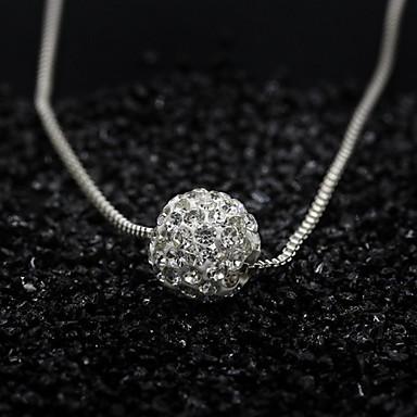 Dam Hänge Halsband damer Minimalistisk Stil Mode Legering Silver Halsband Smycken Till Speciellt Tillfälle Födelsedag Gåva
