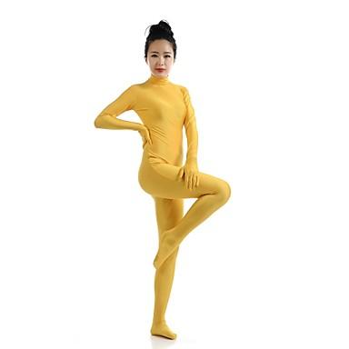 Zentai Dräkter Kattdräkt Huddräkt Ninja Vuxna Spandex Lycra Cosplay-kostymer Kön Herr Dam Gul Enfärgad Halloween / Hög Elasisitet