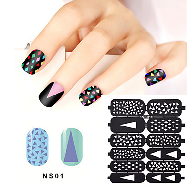 1sheet hollow nail art stamping template stickers reusable stamp