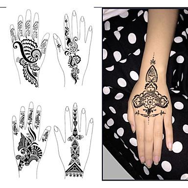 1pcs Tattoo-Vorlagen Hände / Füße Henna-Tattoo-Schablonen für ...