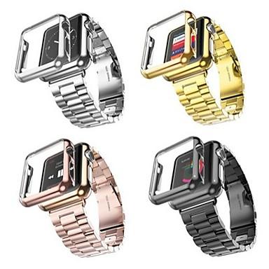 Klockarmband för Apple Watch Series 4/3/2/1 Apple fjäril spänne Rostfritt stål Handledsrem