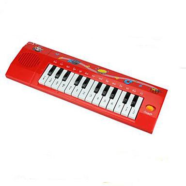 elektronisk orgelmusik leksak plast röd / svart / vit