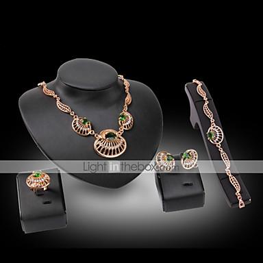 Vintage   Fest-Örhänge   Armband   Ring   Halsband(Guldpläterad   Legering    Strass   Ädelsten och kristall)tillDam 4917812 2018 –  10.99 42ebfc61d56e6