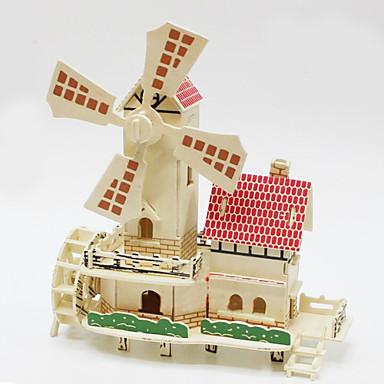 voordelige 3D-puzzels-3D-puzzels Houten puzzels Houten modellen Windmolen Hout Jongens Meisjes Speeltjes Geschenk