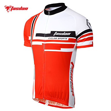 TASDAN Men s Short Sleeve Cycling Jersey - Red Blue Bike Jersey Sleeves Top  Breathable Quick Dry Sweat-wicking Sports 100% Polyester Mountain Bike MTB  Road ... a16980197