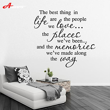 Words Amp Quotes Wall Stickers Plane Wall Stickers