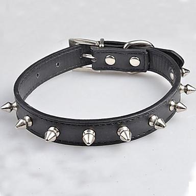 Hundar Halsband Vattentät Röd / Svart / Blå / Rosa / Purpur / Ros Nylon