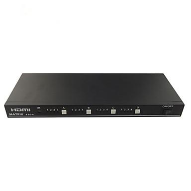 HDMI Matrix 4x4 stöd 1.3v 3d hd 1080p HDMI Switch splitter 4 i fyra utgång 4 HDMI-ingång 4 HDMI-utgång RS232 kontroll