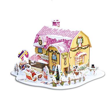 levne 3D puzzle-vánoční dárek chytrý dům sladké chata 3D puzzle (34pcs)