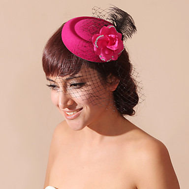 povoljno Party pokrivala za glavu-Žene Prodavačica cvijeća Pero Velvet Net Glava-Vjenčanje Special Occasion Kavez Burke 1 komad