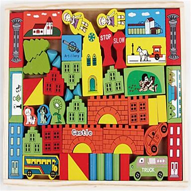 lekpark tidiga lektioner intelligens tredimensionell slott i trä leksaker stad