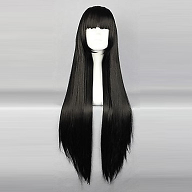 Inuyasha Sango Cosplay Wigs Women S 32 Inch Heat Resistant Fiber Black Anime