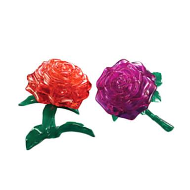 levne 3D puzzle-Puzzle 3D puzzle / Crystal Puzzle Stavební bloky DIY hračky Rose ABS Stříbrná Modelování