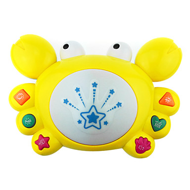 fancy på trumman ta trumma musik, film unge-learning elektriska leksak barn krabbor med ljus