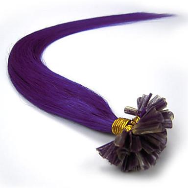 levne Příčesky z pravých vlasů-PANSY Fusion / U Tip Rozšíření lidský vlas Volný Remy vlasy Přírodní vlasy Brazilské vlasy Světlá blondýnka