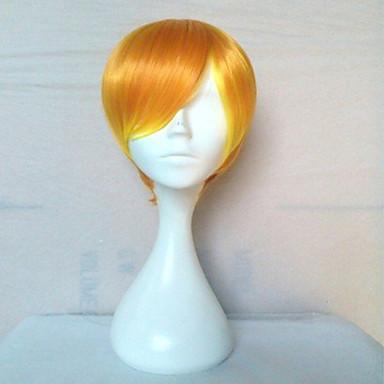 Cosplay Peruker Syntetiska peruker Rak Rak Peruk Blond Blond Syntetiskt hår Dam Blond hairjoy