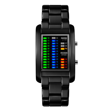 levne Pánské-Pánské Náramkové hodinky Unikátní Creative hodinky Digitální Černá / Stříbro 30 m Voděodolné Kalendář LED Digitální Černá Stříbrná Dva roky Životnost baterie / Maxell626 + 2025