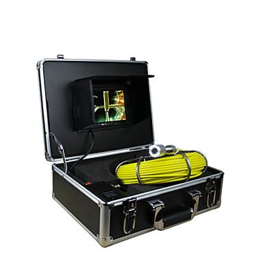 voordelige Test-, meet- & inspectieapparatuur-pijp inspectiesysteem 30m pijpleiding inspectie buiswand 7 inch tft-scherm camera met 12 LED-verlichting 4GB kaart opnemen