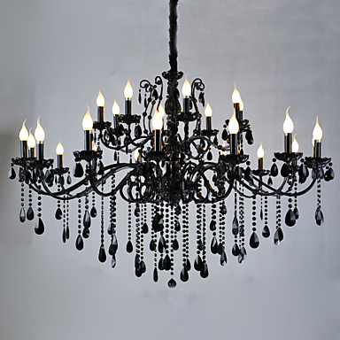 lwd candle style chandelier ambient light painted finishes metal crystal 110 120v 220 240v. Black Bedroom Furniture Sets. Home Design Ideas