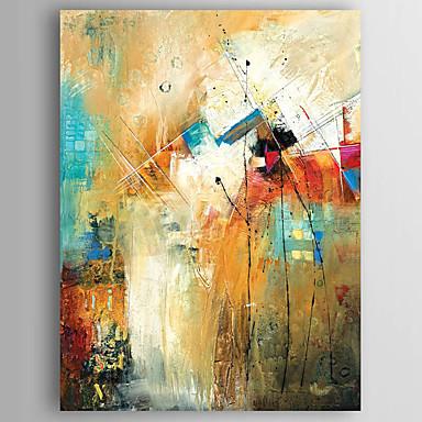 povoljno Ulja na platnu-Hang oslikana uljanim bojama Ručno oslikana - Sažetak Moderna Uključi Unutarnji okvir / Valjani platno / Prošireni platno
