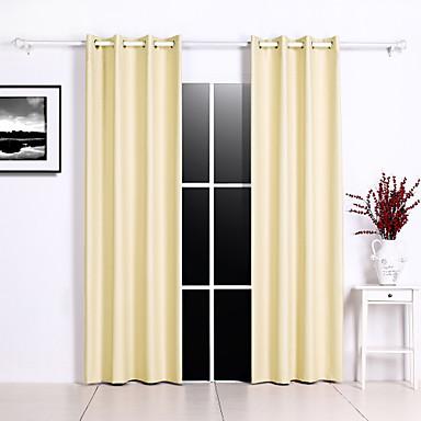 blackout gardiner draperier två paneler sovrum solid färgad / geometrisk polyester präglad