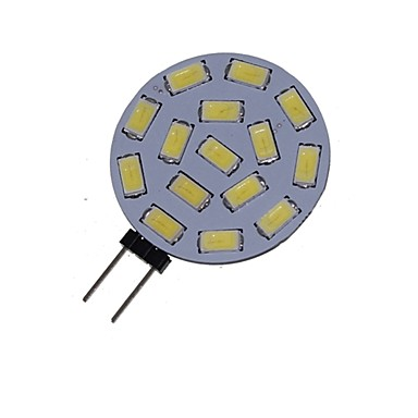preiswerte Beleuchtung-1.5 W LED Spot Lampen 3000-3500/6000-6500 lm G4 MR11 15 LED-Perlen SMD 5730 Dekorativ Warmes Weiß Kühles Weiß 12 V 24 V / 1 Stück / RoHs