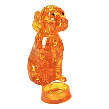 levne 3D puzzle-Puzzle 3D puzzle / Crystal Puzzle Stavební bloky DIY hračky Pes ABS žlutá Modelování