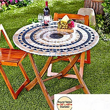Fitted Mosaic Table Cover Mosaic Tuscan Tile Design Table Go Round  Tablecloth Patio Table Cover 4953305 2018 U2013 $14.07