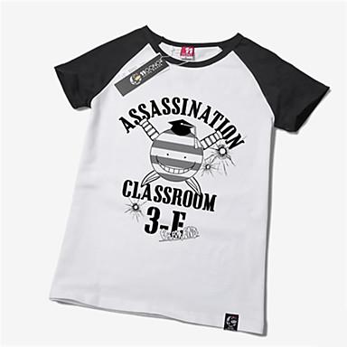 Inspirerad av lönnmord klassrummet Korosensei Animé Cosplay-kostymer Japanska Cosplay T-shirt Tryck Kortärmad T-shirt Till Herr / Dam