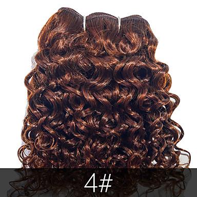 povoljno Ekstenzije od ljudske kose-4 paketića Brazilska kosa Kovrčav Tijelo Wave Virgin kosa Ljudske kose plete Isprepliće ljudske kose Proširenja ljudske kose / 10A