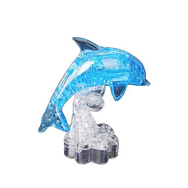 levne 3D puzzle-Puzzle 3D puzzle / Křišťálové puzzle Stavební bloky DIY hračky Delfín ABS Hnědá Modelování