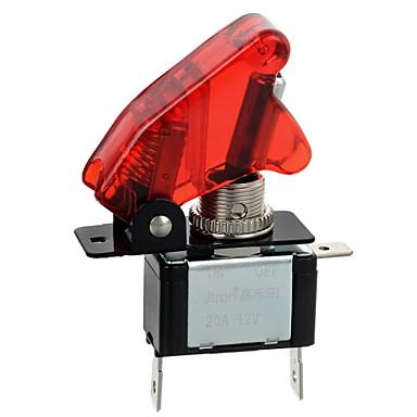 jtron röd / blå LED lyser bil växla på / av-knapp (12V / 20a)