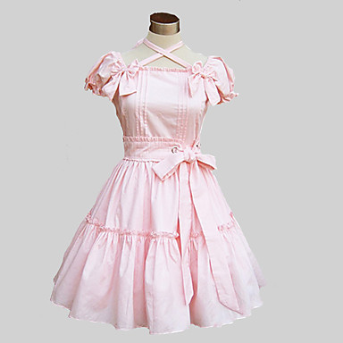 Sweet Lolita Dress Cute Princess Women's One Piece Dress Cosplay Pink Blue  Butterfly Short Sleeves 601960 2018 – $49.99