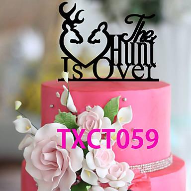 Tårttoppar Klassisker Tema Monogram Akrylfiber Bröllop med 1 pcs OPP