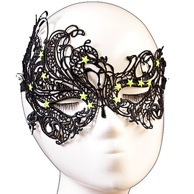 [$2 99] Halloween Props Cosplay Mask Fashion Star Swan Pattern Lace Party  Mask Cosplay Accessories