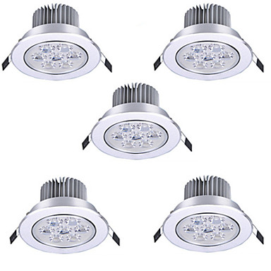 Hry 5pcs 7w 600 lm none led recessed lights recessed retrofit 7 leds high power led warm white cold white 85 265v 4170853 2018 27 93