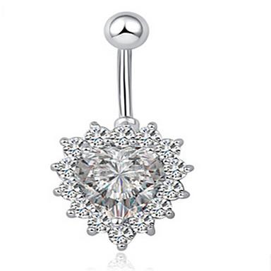 levne Dámské šperky-Dámské Tělové ozdoby Navel Ring / Belly Piercing Bílá dámy / Jedinečný design / Party Nerez / Slitina Kostýmní šperky Pro Vánoční dárky / Ležérní Letní