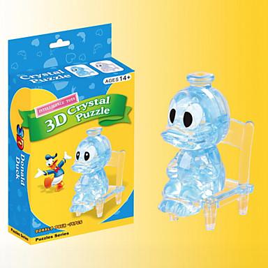 voordelige 3D-puzzels-Legpuzzels 3D-puzzels / Kristallen puzzels Bouw blokken DIY Toys Eend ABS Bruin Modelbouw & constructiespeelgoed